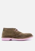 Veldskoen - Heritage suede vellie boot - uhambo pink & brown