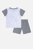 Converse - Converse boys conasaur short set - grey & white