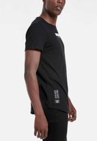 S.P.C.C. - Allen slub logo tee - black