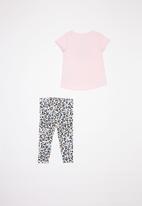 Converse - Converse leopard legging set & peplum - multi