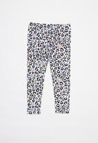 Converse - Converse leopard aop legging - white