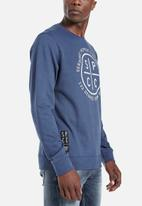 S.P.C.C. - Veattie signature crew neck sweat - blue