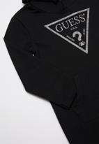 GUESS - Long sleeve longer length active fashion top - jet black
