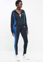 adidas Performance - Adidas hoodie & tights set - navy & blue