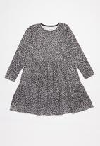Superbalist - Girls animal print dress - grey