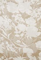 edit - Pearl trim chiffon blouse - beige