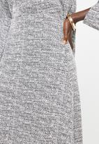 edit - Textured aline skirt - grey