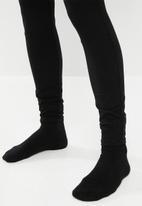 Sissy Boy - Snap back high rise knit cargo - black