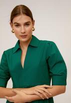 MANGO - Dress lucha - dark green