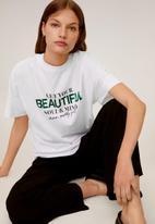 MANGO - T-shirt beauty - white