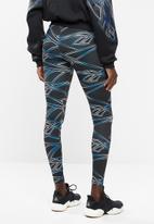 Reebok - Classics print legging - black & blue