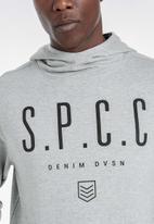 S.P.C.C. - Buckthorn applique logo hoodie - grey