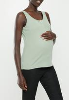 Cotton On - Maternity front placket singlet - green