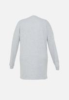 Missguided - Plus size oversized sweater dress - grey