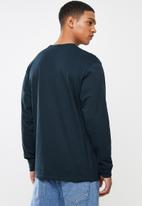 Vans - Off the wall long sleeve tee - navy & white