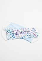 Superbalist - 2 Pack fabric mask - ditsy floral & pale blue
