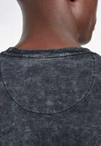 S.P.C.C. - Crossway cut & sew crew neck sweat - black & white