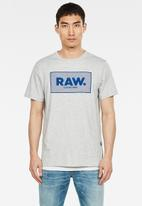 G-Star RAW - Boxed graphic short sleeve tee - grey