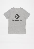 Converse - Converse stack wordmark graph tee - grey