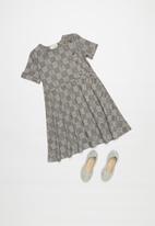 Superbalist Kids - Check ponti dress - grey