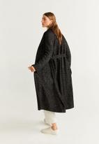 MANGO - Wrap coat - black