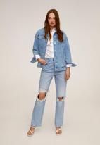 MANGO - Jacket oversize - blue