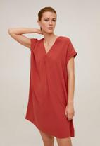 MANGO - Dress balmes - maroon