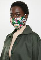 Superbalist - 2 Pack fabric mask - abstract multi & black