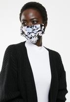 Superbalist - 2 Pack fabric mask - abstract floral & black