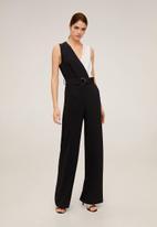 MANGO - One-piece suit bio - black & white