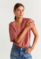 MANGO - T-shirt pura - pink