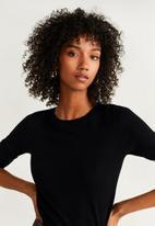 MANGO - Round neck jersey - black