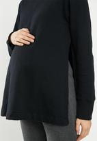 Superbalist - Maternity stretch fleece matching set (top) - black