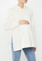 Superbalist - Maternity stretch fleece matching set (top) - milk