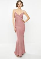 Missguided - Slinky cowl neck maxi dress - pink