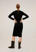 MANGO - Dress peto - black