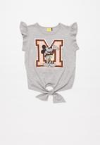 Rebel Republic - Girls Mickey Mouse fashion tee - grey