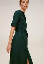 MANGO - Dress mexi-a - dark green