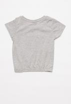 POP CANDY - Girls tee with foil - grey