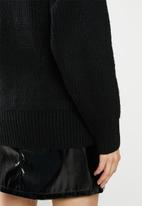 Missguided - Premium boyfriend roll neck - black