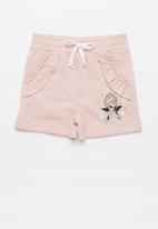 POP CANDY - Girls fleece short with frills - pink
