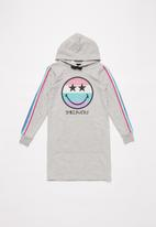 Rebel Republic - Girls brushed fleece hoodie dress - grey