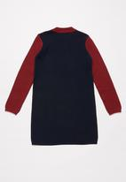 POLO - Girls Anna high neck jacquard knit dress - multi