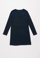 POLO - Girls Jessica textured dress - navy