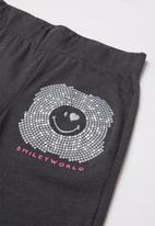 Rebel Republic - Girls spandex leggings - charcoal