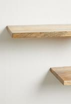 Sixth Floor - Mango wood  shelves set of 3 - natural