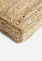 Sixth Floor - Jute floor cushion - natural