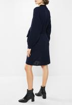 Glamorous - Maternity knitted tie waist dress - navy