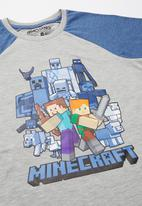 Rebel Republic - Boys Minecraft pyjama - grey melange