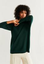 MANGO - High neck jersey - dark green